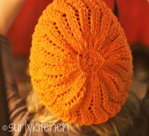 back of beret
