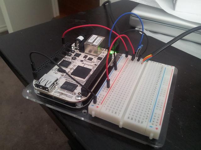 BeagleBone with OneWire sensor.