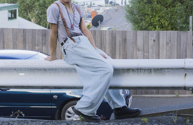 blog #077 details  vintage leather suspender 22nd DEC 2012副本