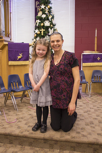 Jadyn & her preschool teacher