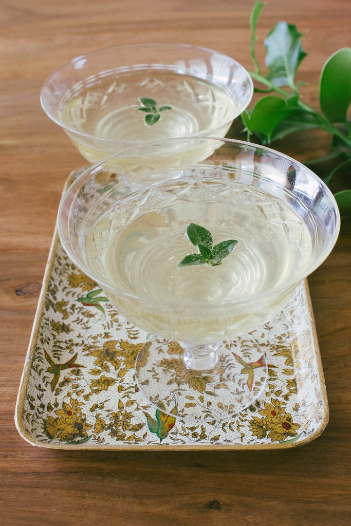 Sugar and herb syrup for desserts and cocktails