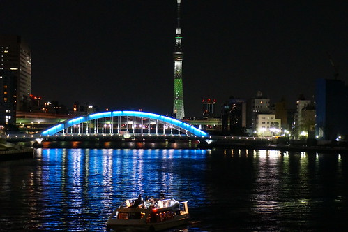 river cruise & Tokyo white Skytree