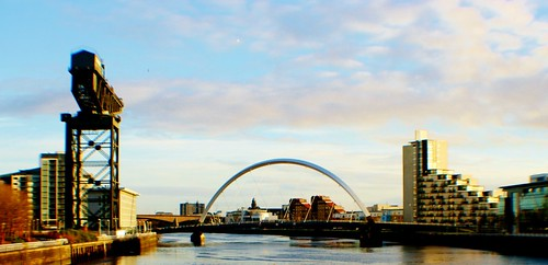 Finnieston Crane, River Clyde and Glasgow Arc Bridge