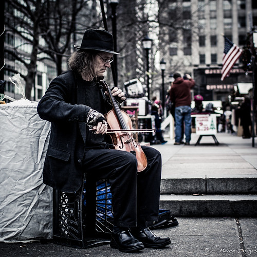 christmas street xmas city portrait musician music man philadelphia canon square december candid explore violin philly squarecrop 2012 muted unsaturated explored