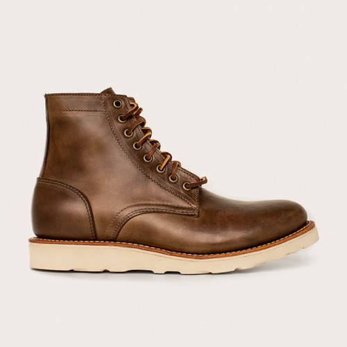 Oakstreet Bootmakers natural vibram sole trench boot