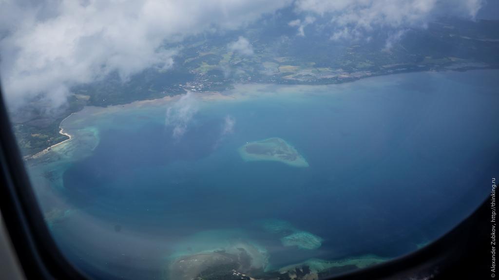 На подлете к острову Боракай