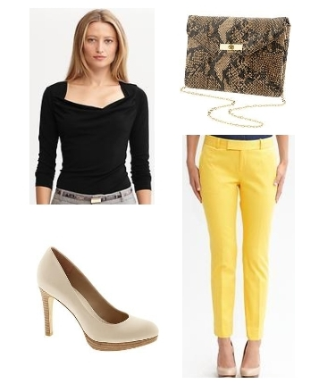 Hampton fit yellow crop pants
