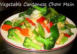 vegetable cantonese chow mein