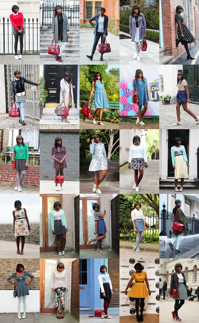 year in outfits 2012 what i wore ootd