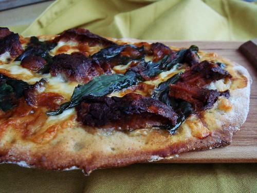 Onion Brisket & Kale Flatbread