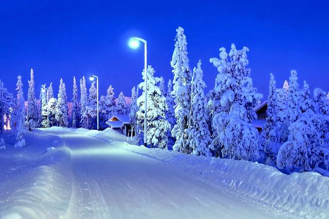 La hora azul en Laponia