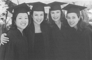 Graduates at the 1998 Commencement ceremony at Pomona College