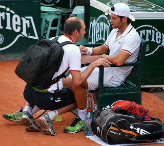 Simone Bolelli needed treatment from the trainer