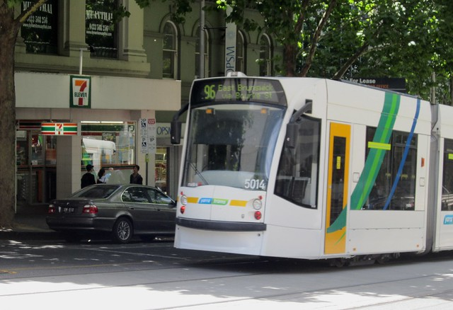 7/11 and tram