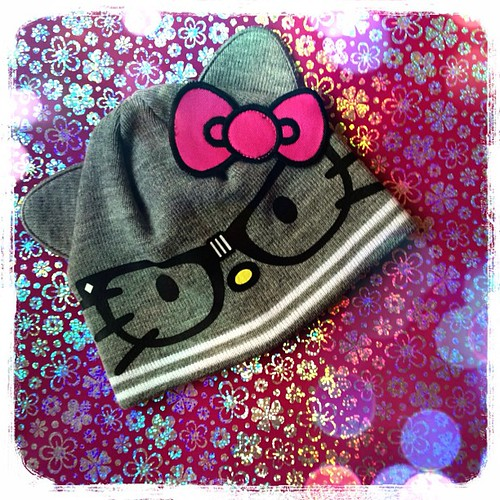 #hellokitty #hat #children #child #bow #glasses for my niece