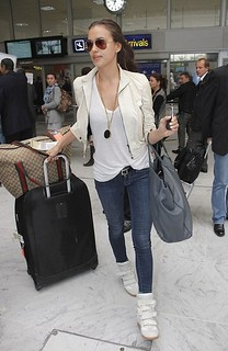 Irina Shayk Wedge Sneakers Celebrity Style Women's Fashion