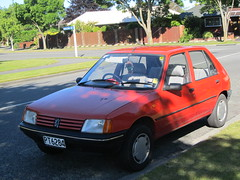 automobile, peugeot, vehicle, peugeot 205, land vehicle, hatchback,