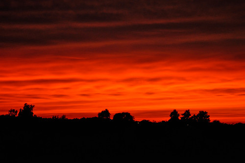 county sunset red orange iowa mahaska
