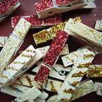Mini glitter pegs