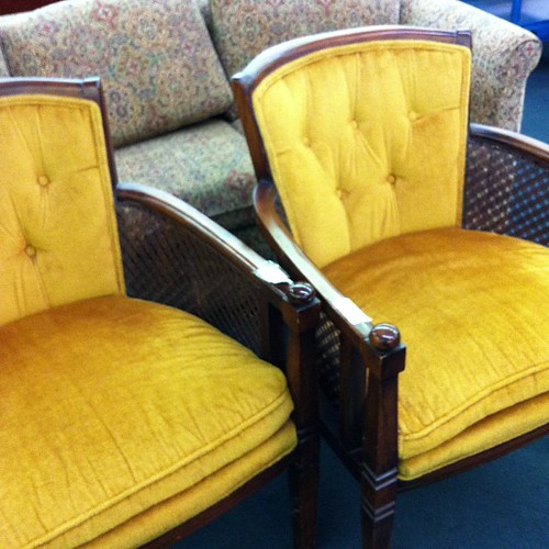 Amazing chairs found at local thrift store! All they need is some TLC.