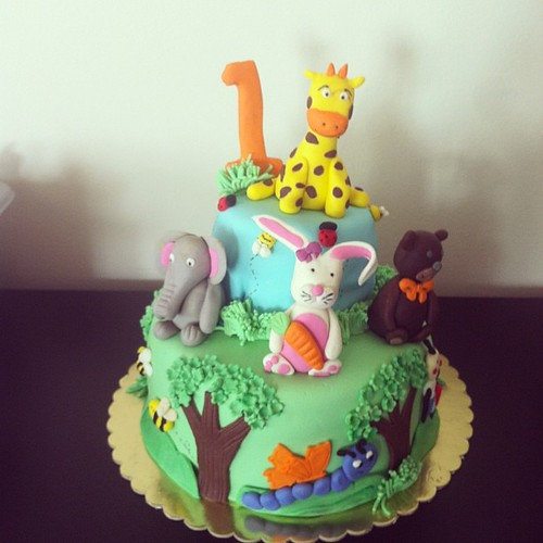 #animalscake #1st #1yearcake by l'atelier de ronitte