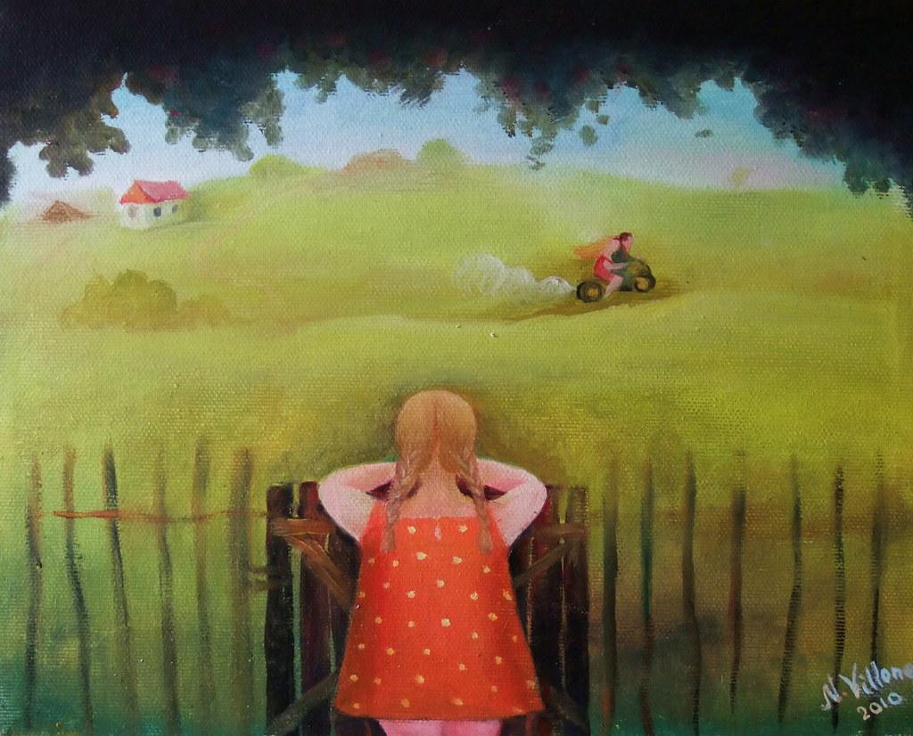 Картинки по запросу лето наивная живопись