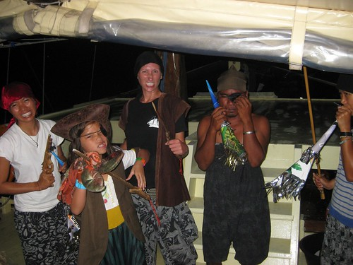Pirates on the Boat in Komodo National Park