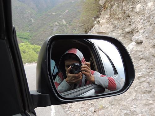 On road.