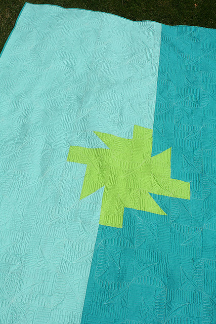 Sparkler quilt - the back