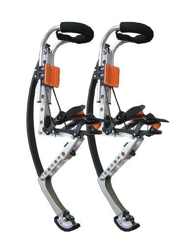 Caution Zombies All Over Jumping Stilts Powerisers Or