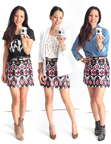 3 Ways to Wear - Sequin Skirt