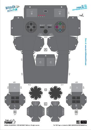 Derrick the Deathfin DualShock 3 Papercraft: Page 2