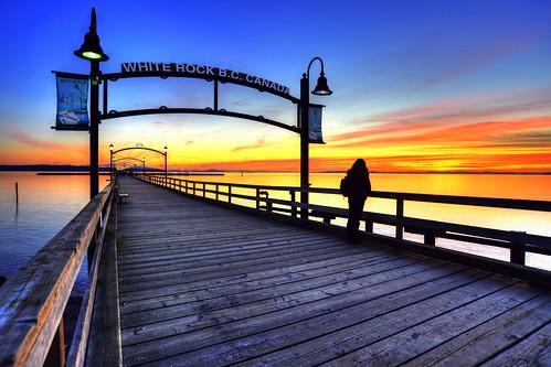 winter sunset vancouver pier whiterock hdr oceansunset timshields glaciertim