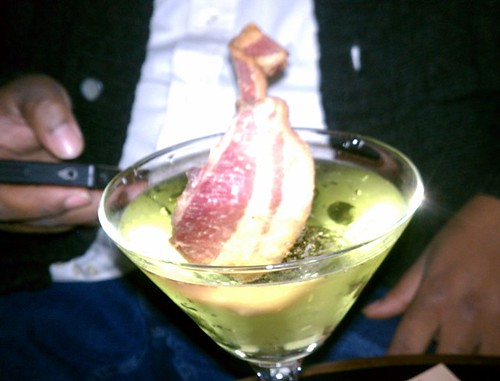 Bacon Apple Bourbon Martini!