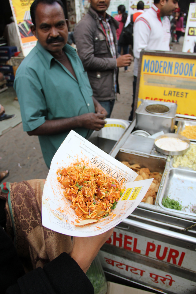 The man who created my first paper cone of bhel puri!