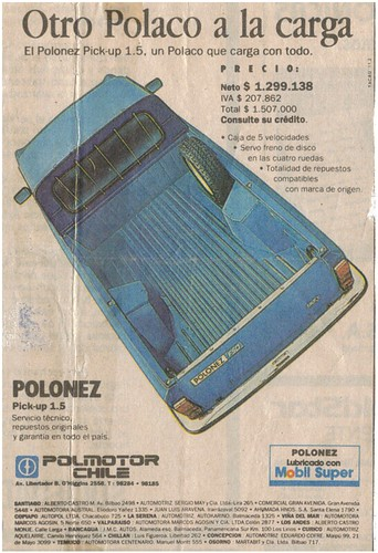 Polonez Pick-up 1.5 (Chile)