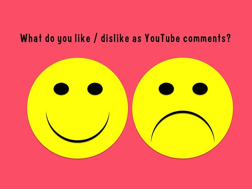 What do you like or dislike as YouTube comments? #socialweb