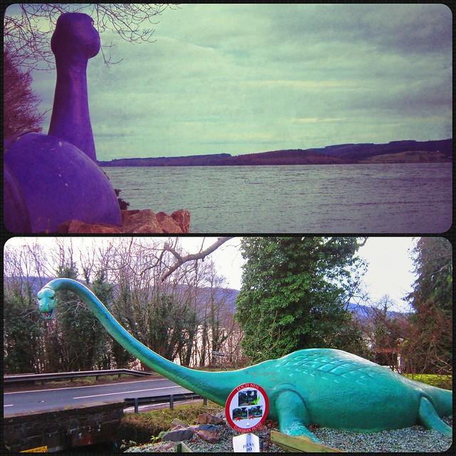 Loch Ness monster at Loch Ness