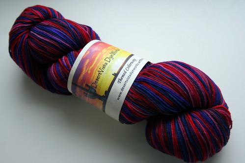 Desert Vista DyeWorks Sock