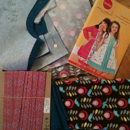 Getting ready to sew Frida's birthday dress: ModKids Gretchen