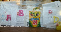 Letter of the day bags