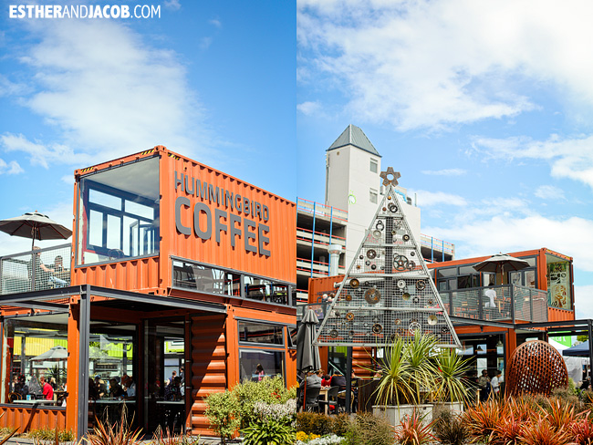 Hummingbird Coffee Cafe Re:Start Container Mall | How to spend 48 hours in Christchurch | What to do in 2 days in Christchurch | Christchurch New Zealand Travel Photography