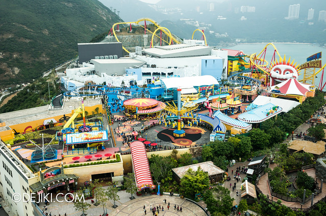 Ocean Park Tower Views: Thrill Mountain and Polar Adventure