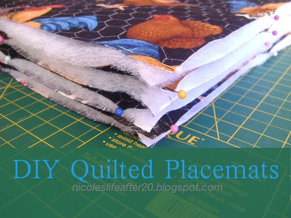 DIY Quilted Placemats