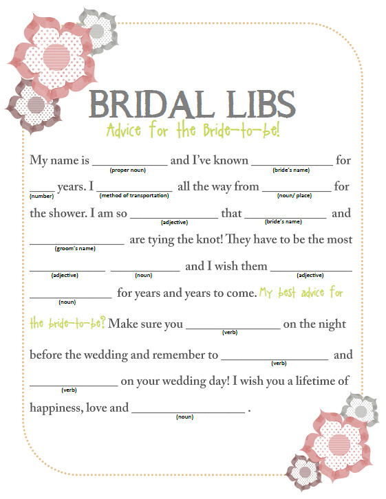 Stupendous image with bridal shower mad libs free printable