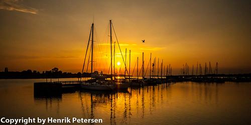 sunset marina denmark solnedgang nykobingfalster regionzealand