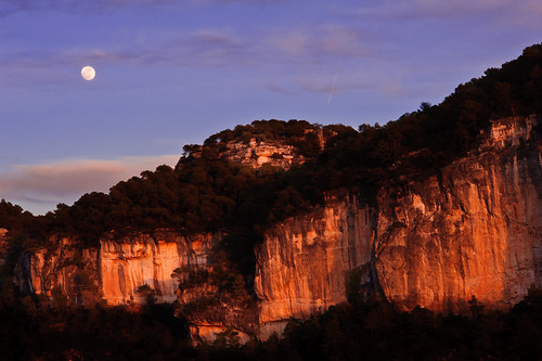 Siurana de Prades and the moon landscape oriented