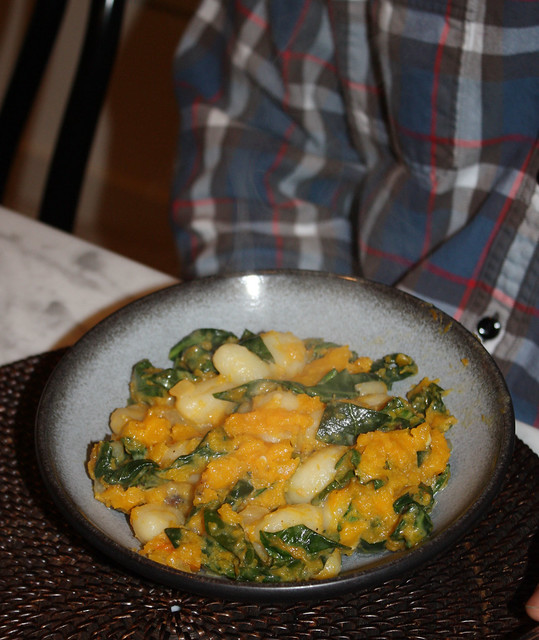 Gnocchi with Butternut Squash & Collard Greens