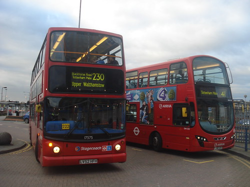 Stagecoach London 17575 (Route 230), Arriva London DW335 (Route 41), Tottenham Hale