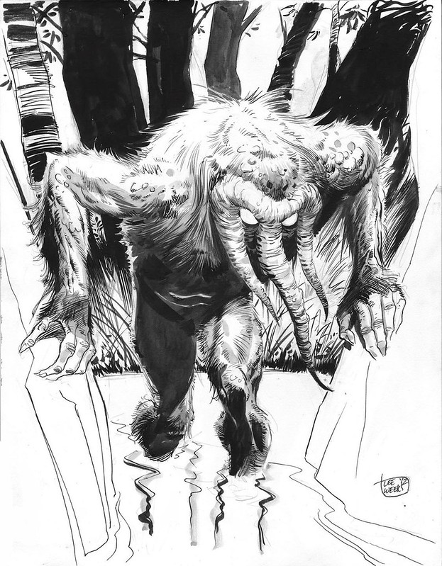 Man-Thing comission by Lee Weeks 2012